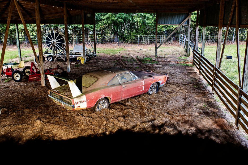 1969 Dodger Daytona Rusty Abandoned Forgotten Junkyeard Muscle Old Classic USA -56 wallpaper