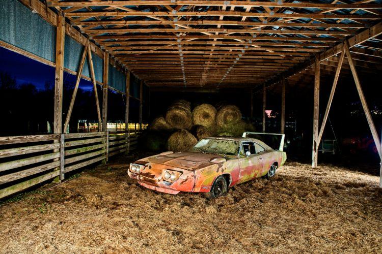 1969 Dodger Daytona Rusty Abandoned Forgotten Junkyeard Muscle Old Classic USA -65 wallpaper