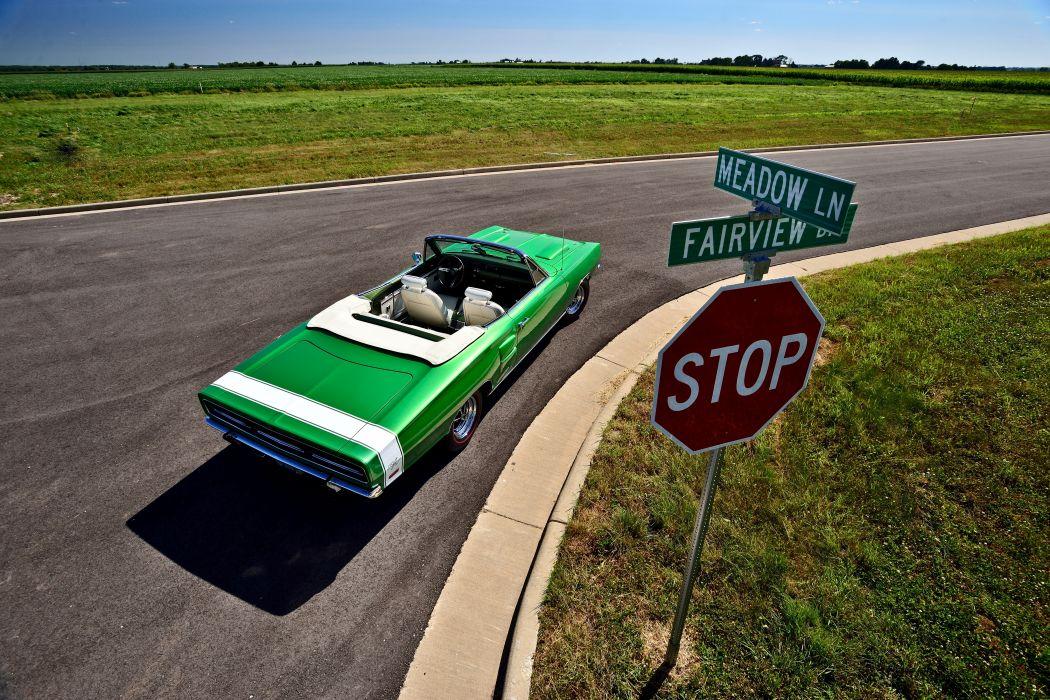 1969 Dodge Hemi Coronet RT Convertible Muscle Old Classic Original USA -06 wallpaper