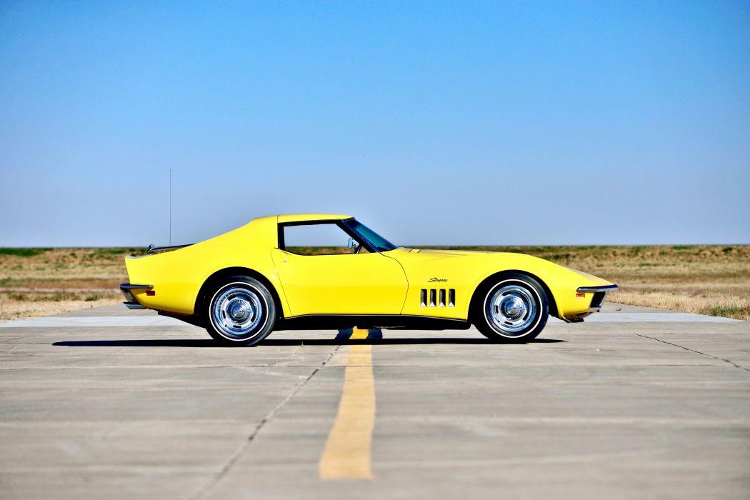 1969 Chevrolet Corvette Stingray 427 Yenko Coupe Muscle Old Classic Original USA -02 wallpaper