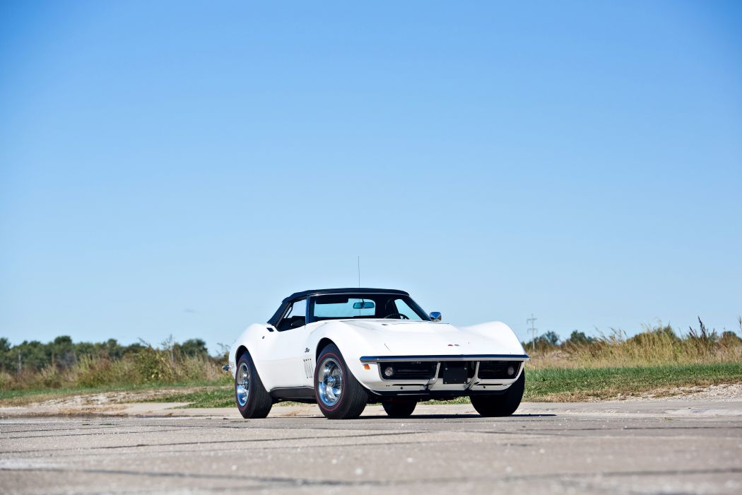 1969 Chevrolet Corvette Stingray Convertible Muscle Old Classic Original USA -04 wallpaper