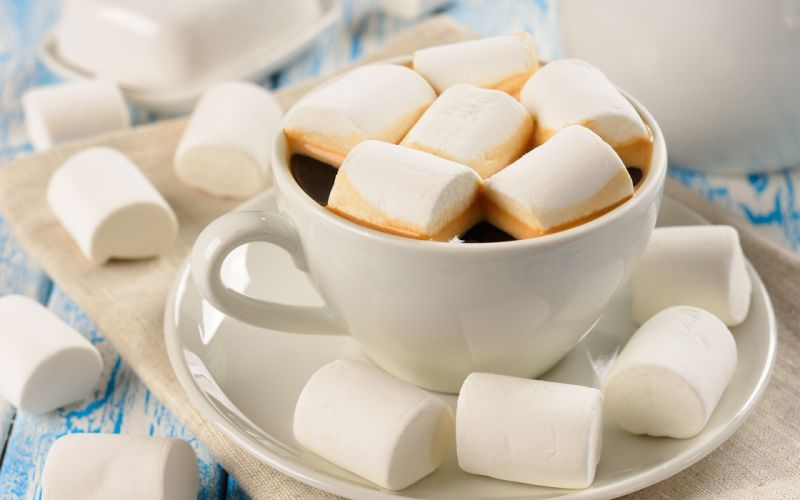 sweet cup marshmallow mug coffee wallpaper