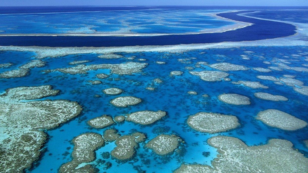 oceano atolon islas naturaleza wallpaper