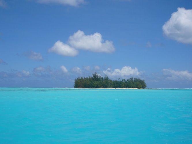 Polinesia isla oceano naturaleza wallpaper