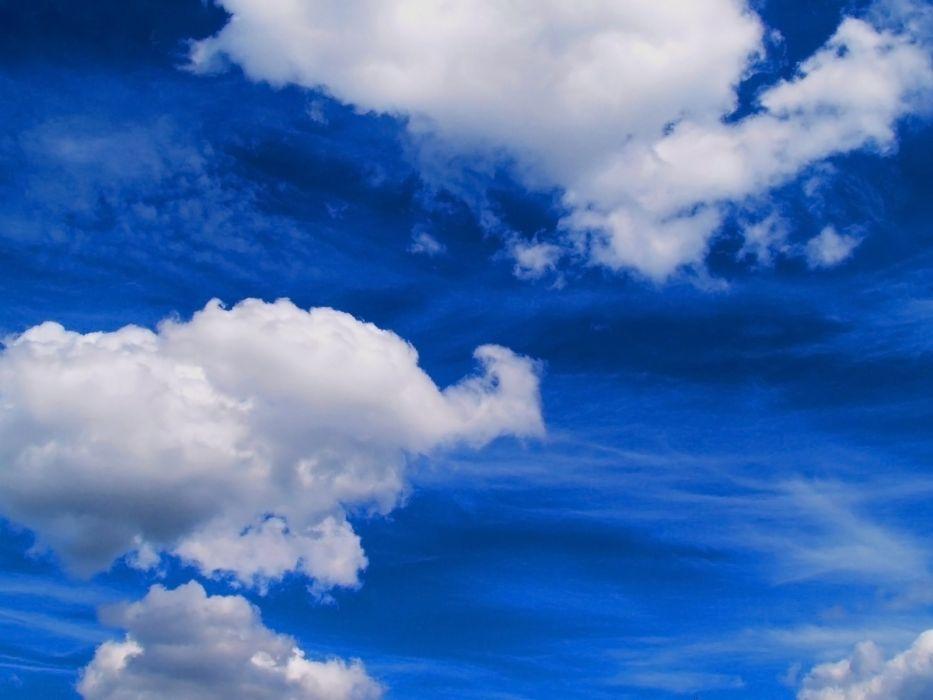 nubes blancas cielo azul wallpaper