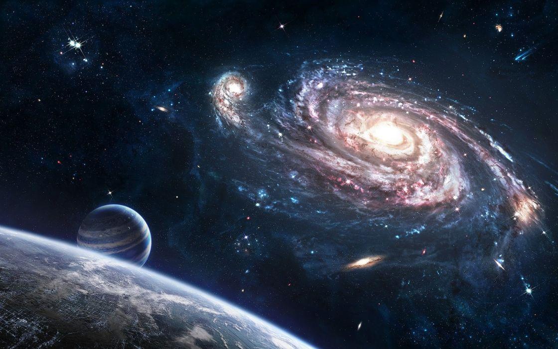 espacio planetas estrellas naturaleza wallpaper