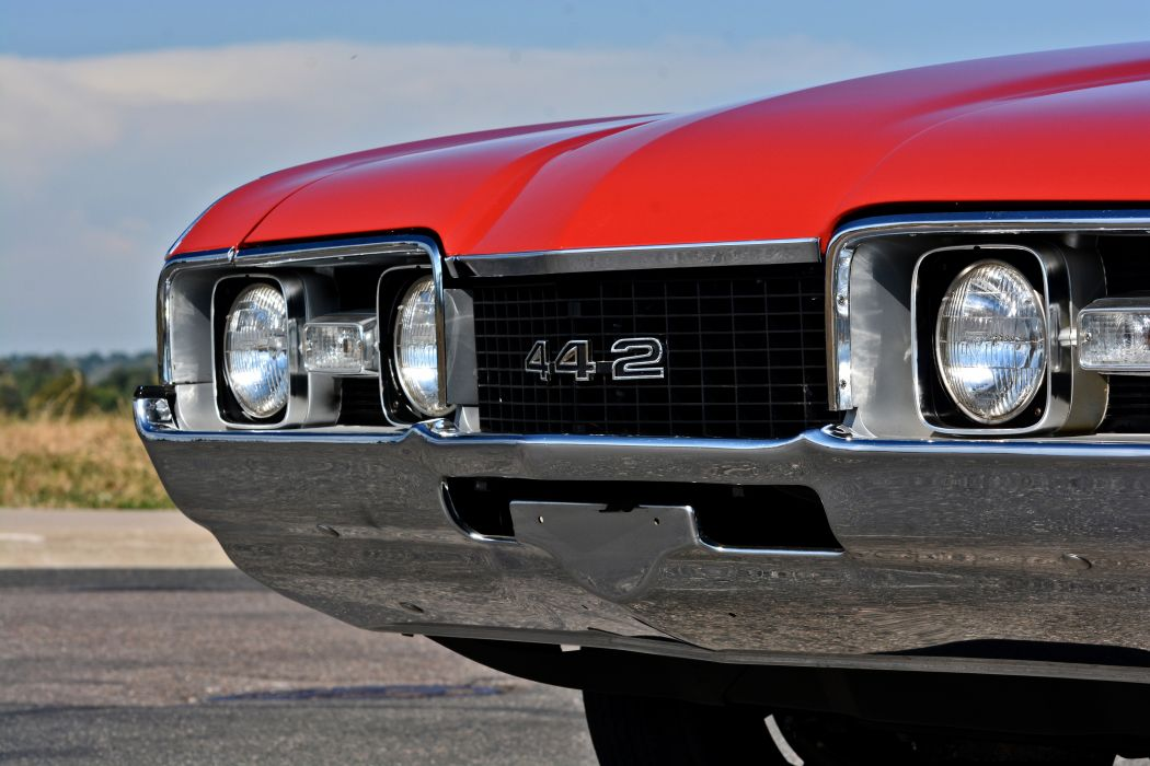 1968 Oldsmobile 442 Muscle Old Classic Original USA -07 wallpaper