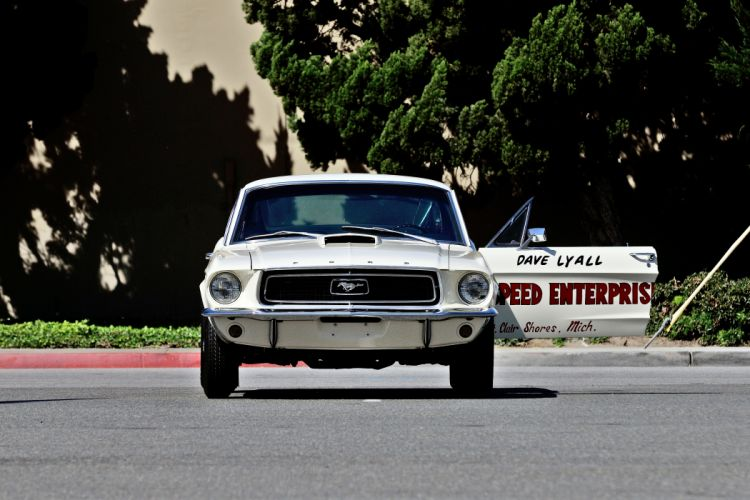 1968 Ford Mustang Cobra-Jet Lightweight Muscle Race Classic Old Drag Pro Stock USA -09 wallpaper
