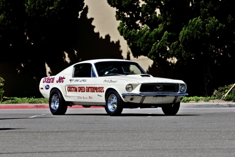 1968 Ford Mustang Cobra-Jet Lightweight Muscle Race Classic Old Drag Pro Stock USA -10 wallpaper