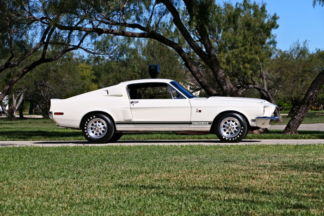 1968 Ford Mustang Shelby GT500 KR Cobra Fastback Muscle Old Classic Original USA -02 wallpaper