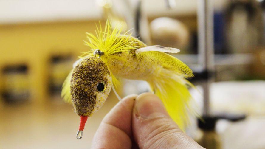 Fishing made-fly-finger wallpaper