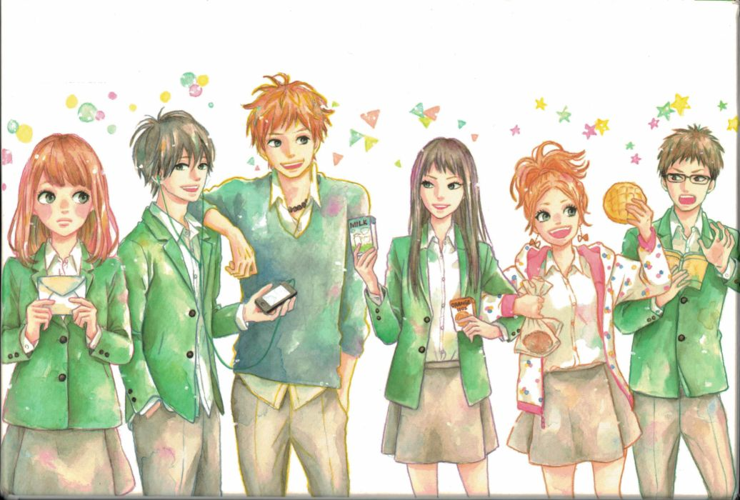 Orange (Series) Series Naho Takamiya Character Takako Kayano Character Saku Hagita Character wallpaper