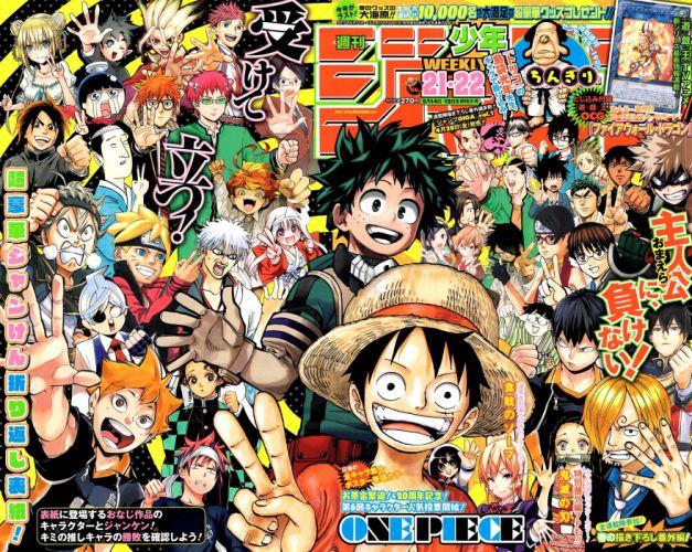 anime series Boichi Mangaka Posuka Demizu Mangaka Shun Saeki Mangaka Kouhei Horikoshi Mangaka Hideaki Sorachi Mangaka wallpaper