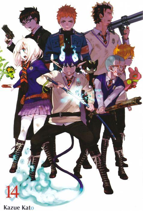 Ao no Exorcist Series Ryuji Suguro Character Shiemi Moriyama Character Kuro (Ao no Exorcist) Character wallpaper