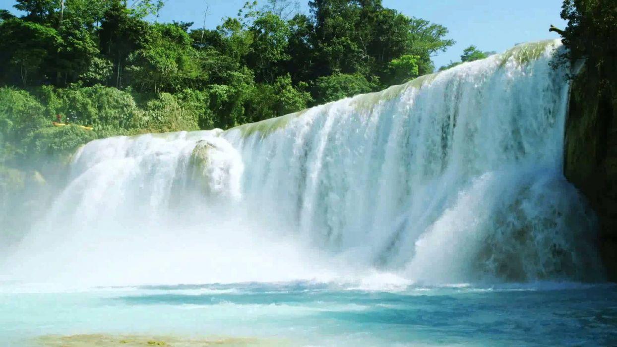 cataratas rio arboles naturaleza wallpaper