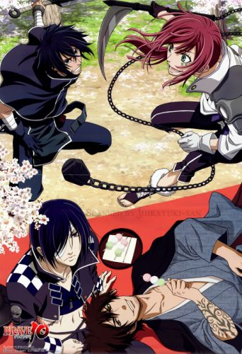 Brave 10 Series Saizou Kirigakure Character Yuri Kamanosuke Character wallpaper