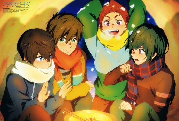 Free! Series Ikuya Kirishima Character Asahi Shiina Character wallpaper