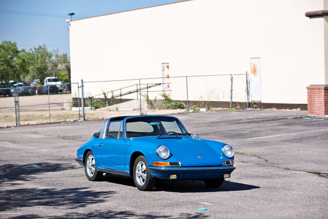1967 Porsche 911S Soft Window Targa Coupe Classic Exotic Old BLue Germany -01 wallpaper