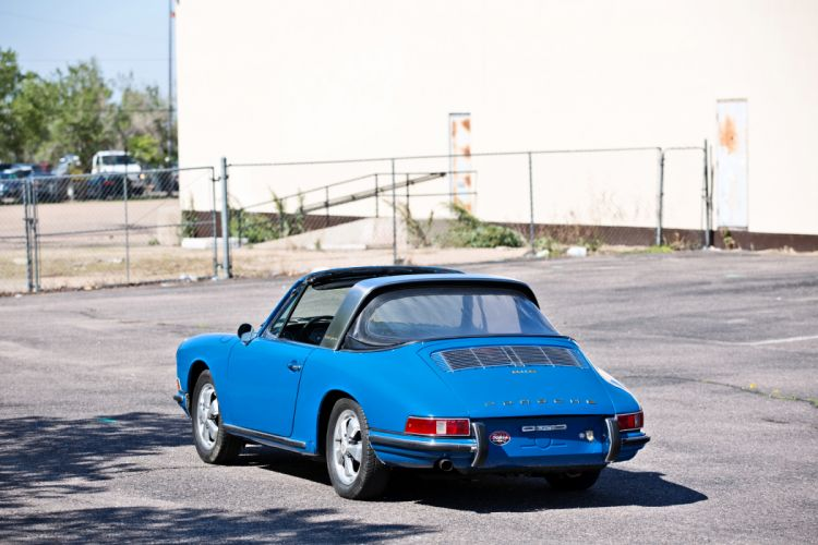 1967 Porsche 911S Soft Window Targa Coupe Classic Exotic Old BLue Germany -06 wallpaper