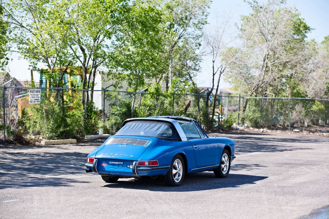 1967 Porsche 911S Soft Window Targa Coupe Classic Exotic Old BLue Germany -09 wallpaper