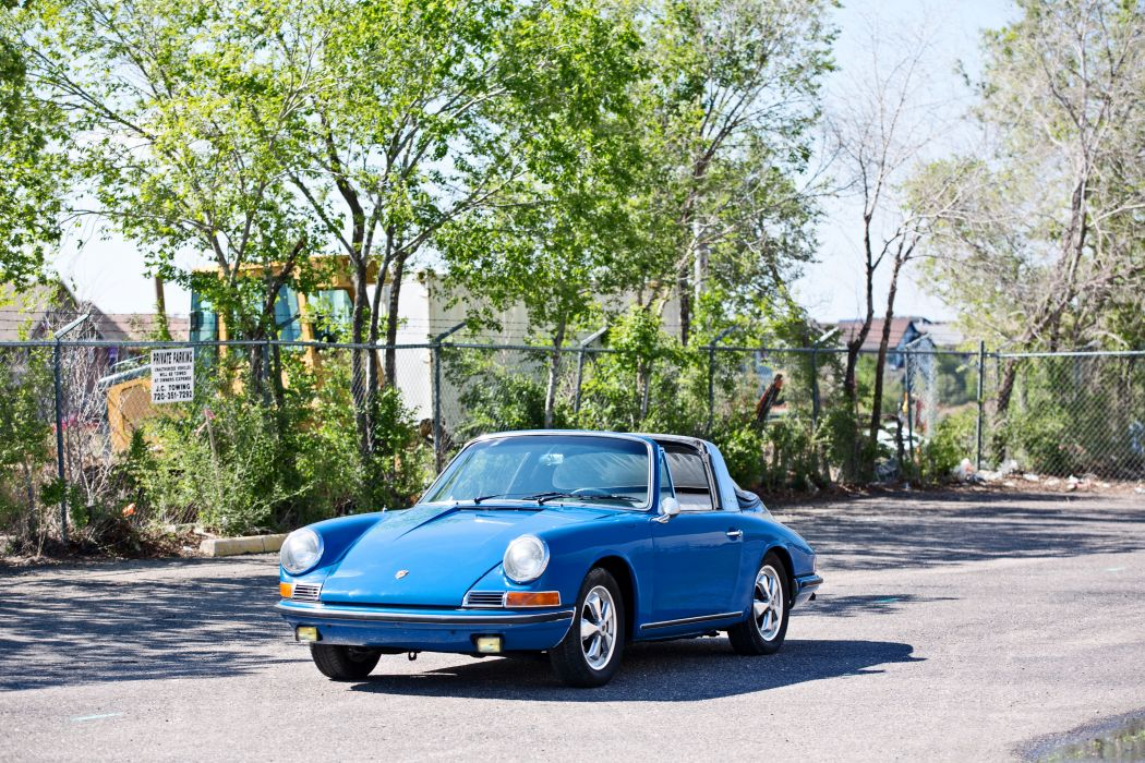 1967 Porsche 911S Soft Window Targa Coupe Classic Exotic Old BLue Germany -05 wallpaper