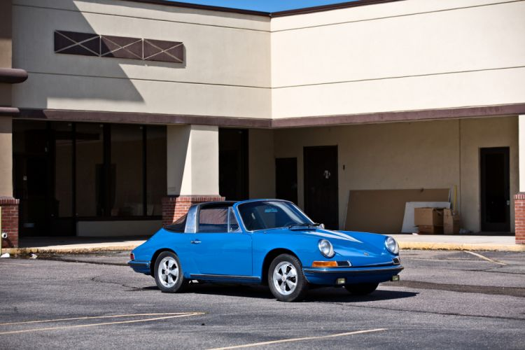 1967 Porsche 911S Soft Window Targa Coupe Classic Exotic Old BLue Germany -13 wallpaper