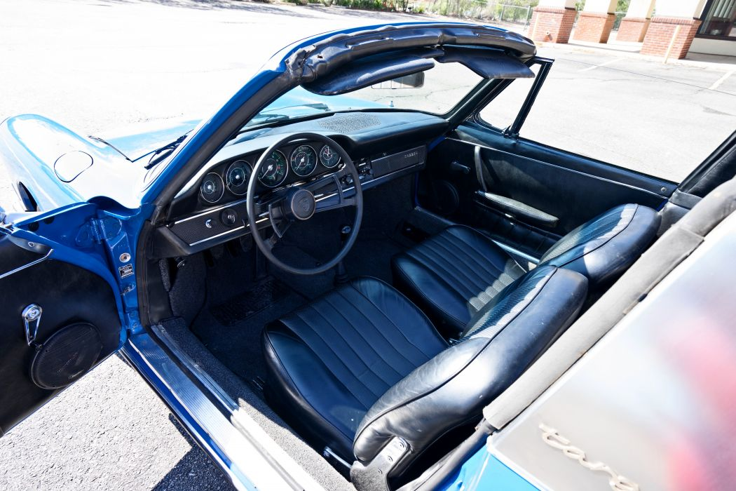 1967 Porsche 911S Soft Window Targa Coupe Classic Exotic Old BLue Germany -18 wallpaper