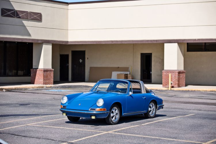 1967 Porsche 911S Soft Window Targa Coupe Classic Exotic Old BLue Germany -17 wallpaper