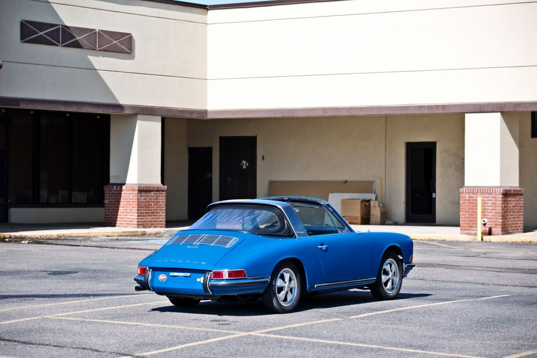 1967 Porsche 911S Soft Window Targa Coupe Classic Exotic Old BLue Germany -20 wallpaper