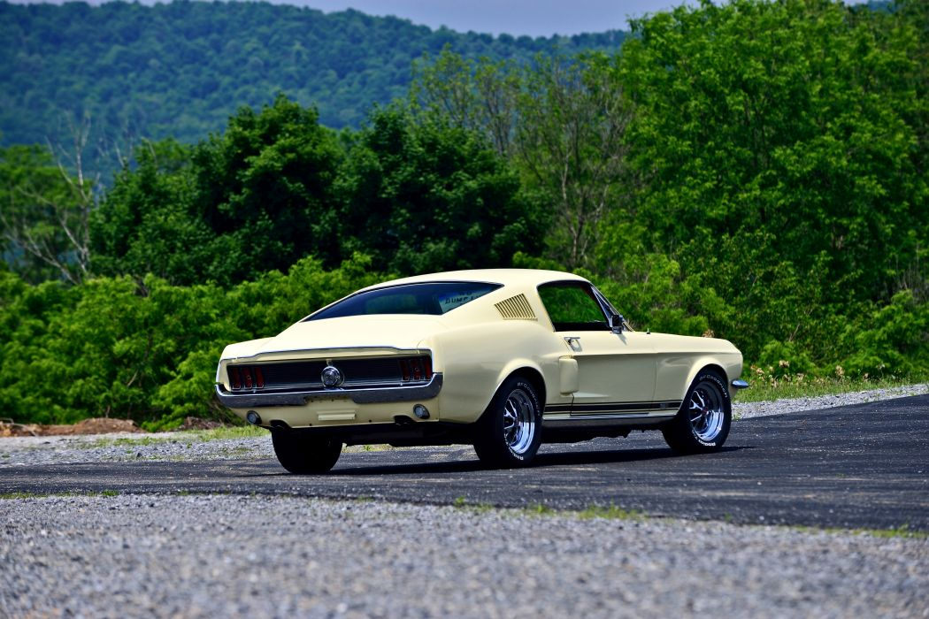 1967 Ford Mustang Fastback GTA Muscle Classic Old Original USA -09 wallpaper