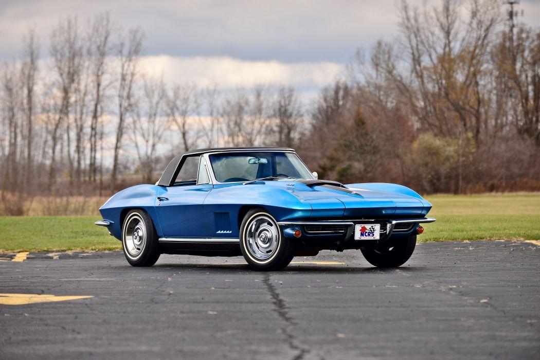 1967 Chevrolet Corvette Convertible Stingray Muscle Classic Old Original USA -12 wallpaper