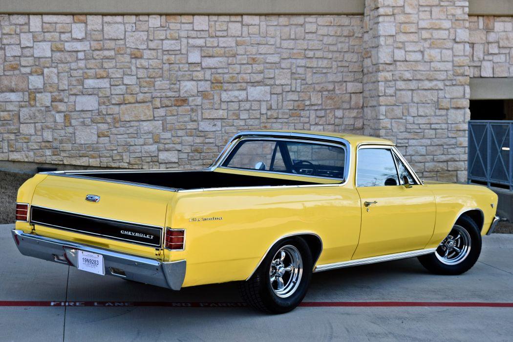 1967 Chevrolet Pickup El Camino Hotrod Streetrod Hot Rod Street Yellow USA -04 wallpaper