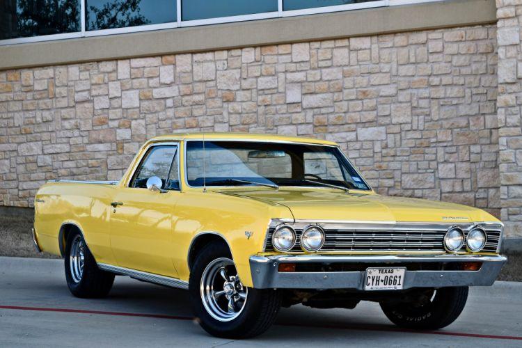 1967 Chevrolet Pickup El Camino Hotrod Streetrod Hot Rod Street Yellow USA -03 wallpaper