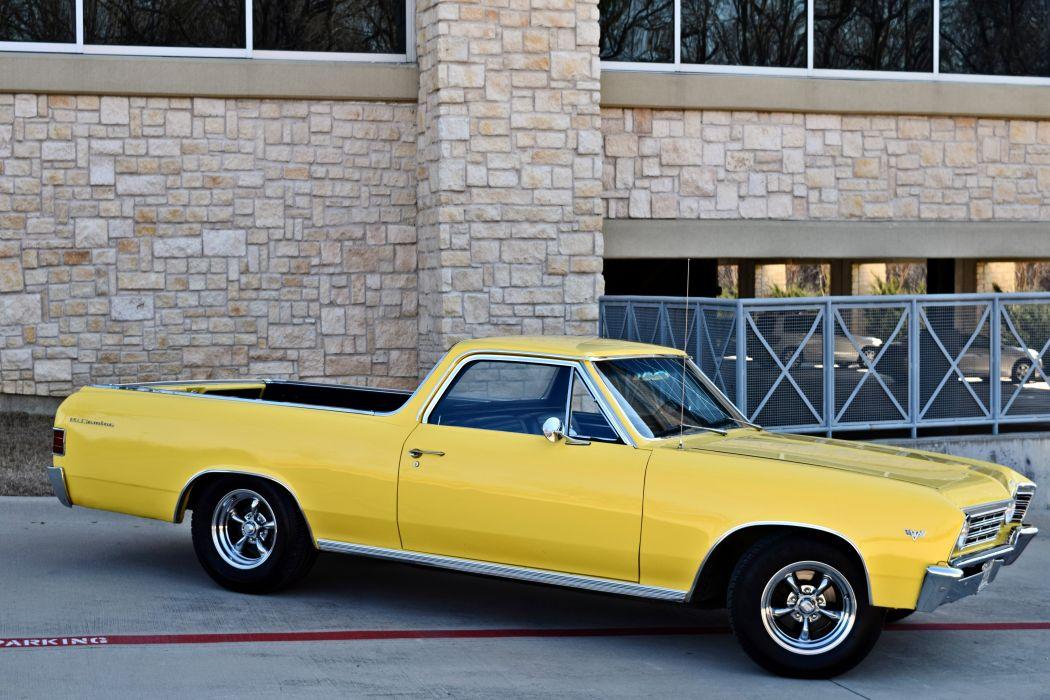 1967 Chevrolet Pickup El Camino Hotrod Streetrod Hot Rod Street Yellow USA -08 wallpaper