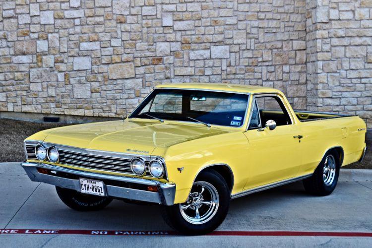 1967 Chevrolet Pickup El Camino Hotrod Streetrod Hot Rod Street Yellow USA -10 wallpaper