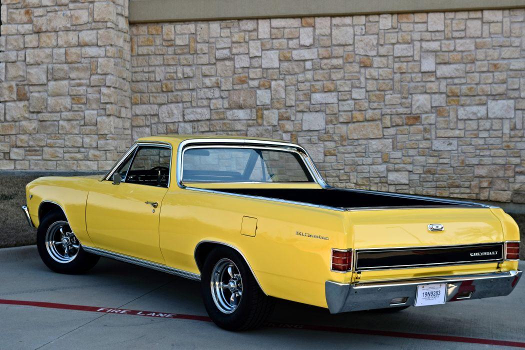 1967 Chevrolet Pickup El Camino Hotrod Streetrod Hot Rod Street Yellow USA -14 wallpaper