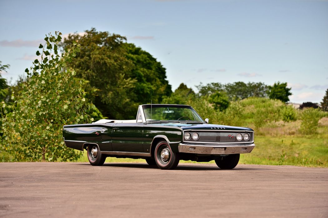 1967 Dodge Hemi Coronet RT Convertible Muscle Old Classic Original USA -07 wallpaper
