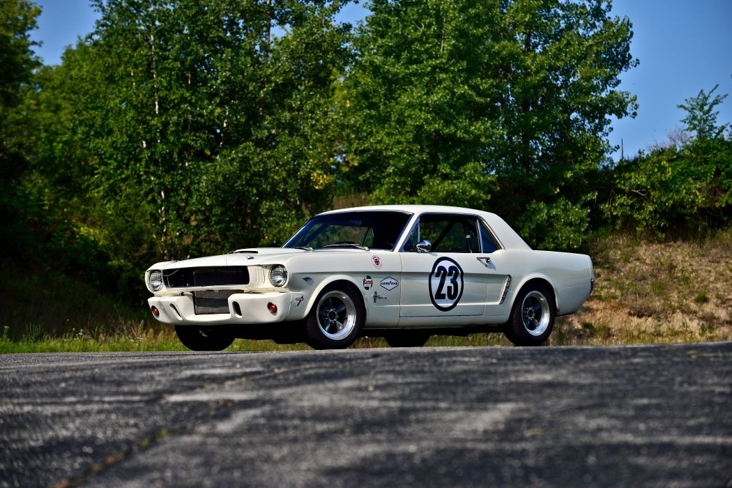 1965 Ford Mustang Coupe Race Car USA -01 wallpaper