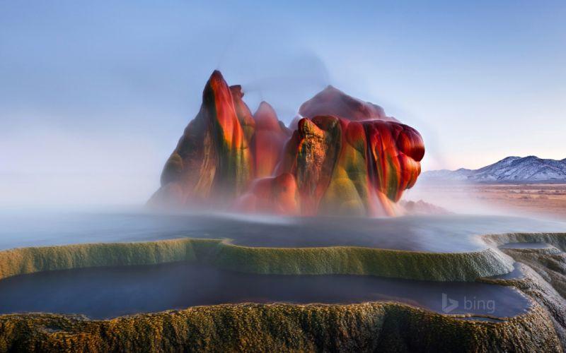 geyser wide naturaleza wallpaper