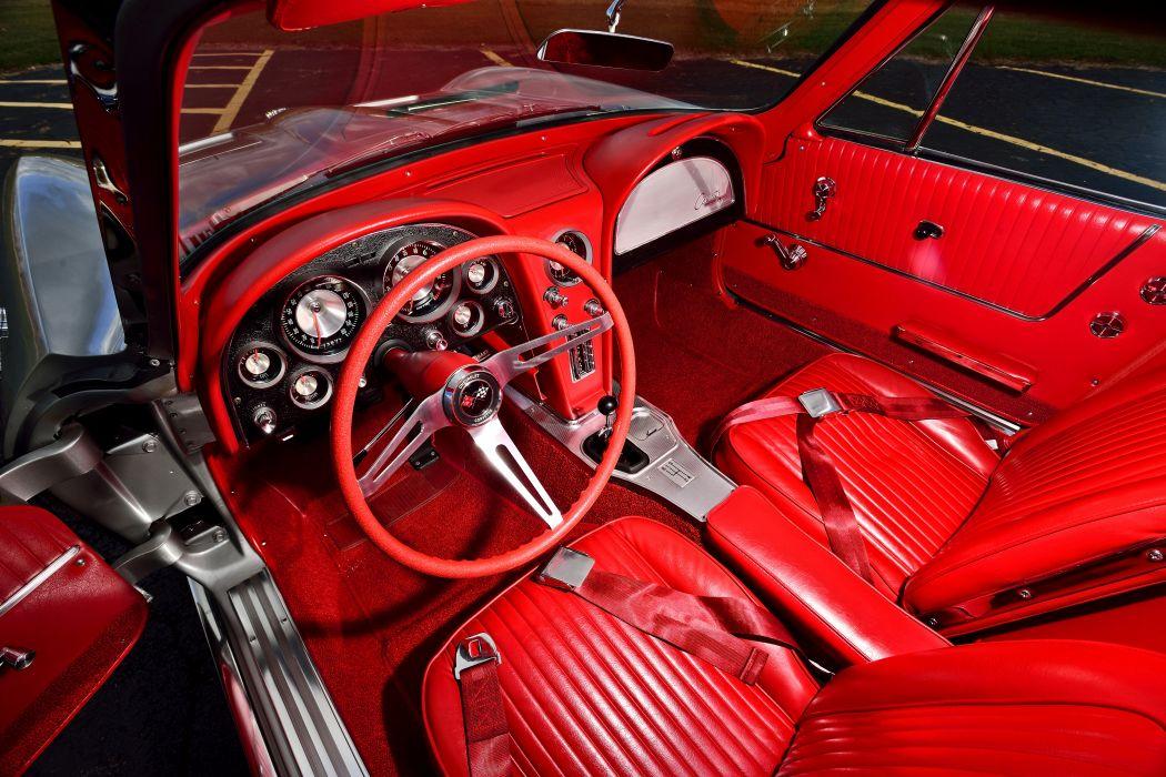 1963 Chevrolet Corvette Stingray Z06 Tanker Muscle Old Classic USA -04 wallpaper