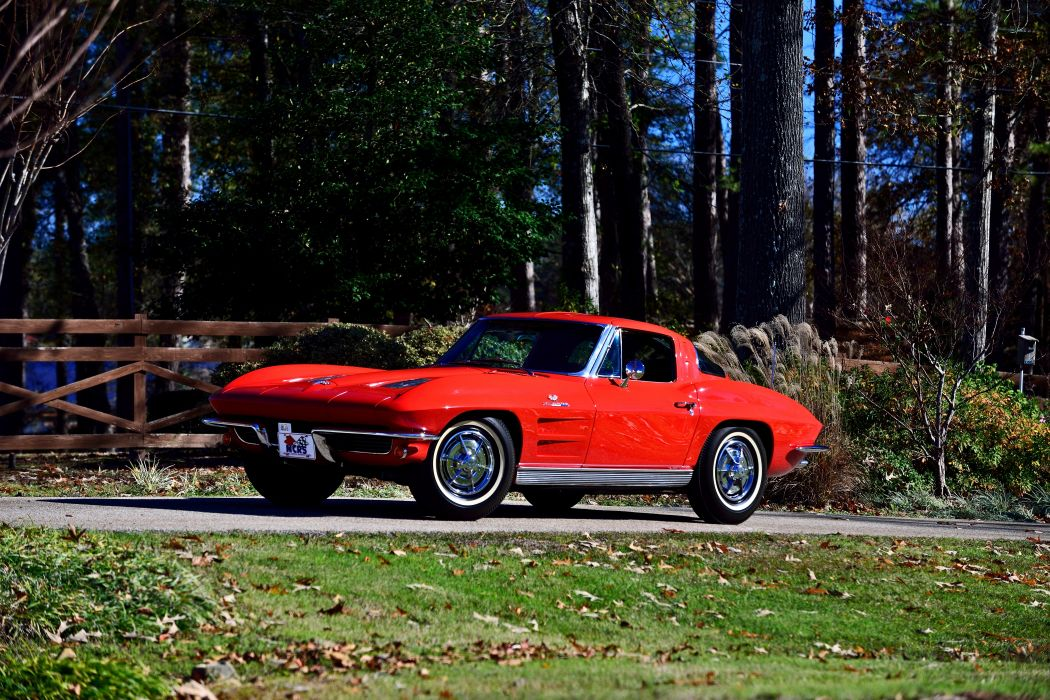 1963 Chevrolet Corvette Z-06 Fuel Injection Muscle Classic Old Original USA -01 wallpaper