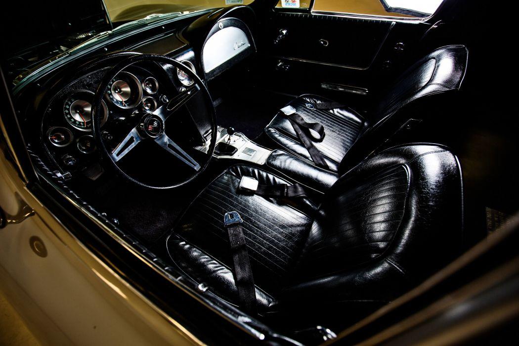 1963 Chevrolet Stingray Corvette Z06 Tanker Muscle Classic Original -17 wallpaper