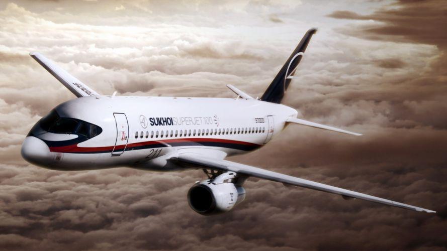 avion civil vuelo nubes comercial wallpaper