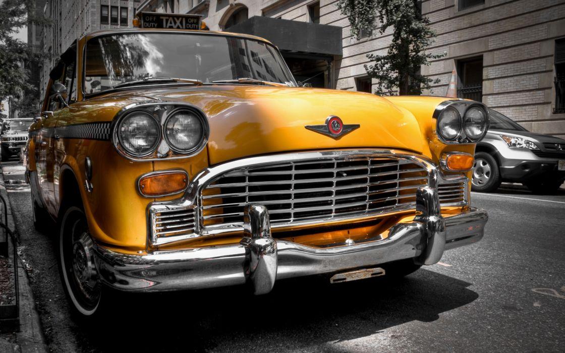 Taxi New York coche clasico wallpaper