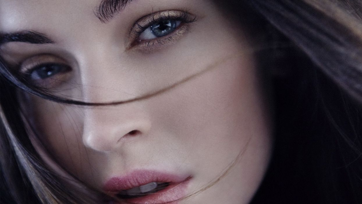 Face woman-girl-sexy-blue-eyes-hair wallpaper