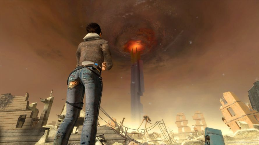 Games half life 2-girl-alyx vance-ripped-jeans-girl-sexy-sensual wallpaper