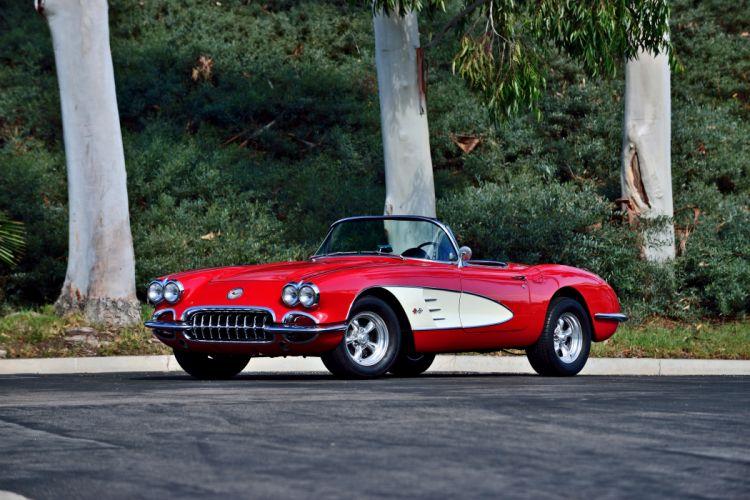 1960 Chevrolet Corvette Convertible Muscle Spor Cruiser USA -01 wallpaper