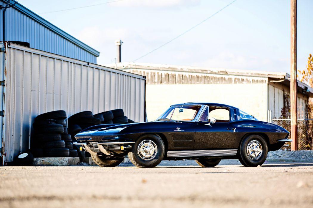 1963 Chevrolet Corvette Stingray Z06 Muscle Old Classic Original USA -01 wallpaper