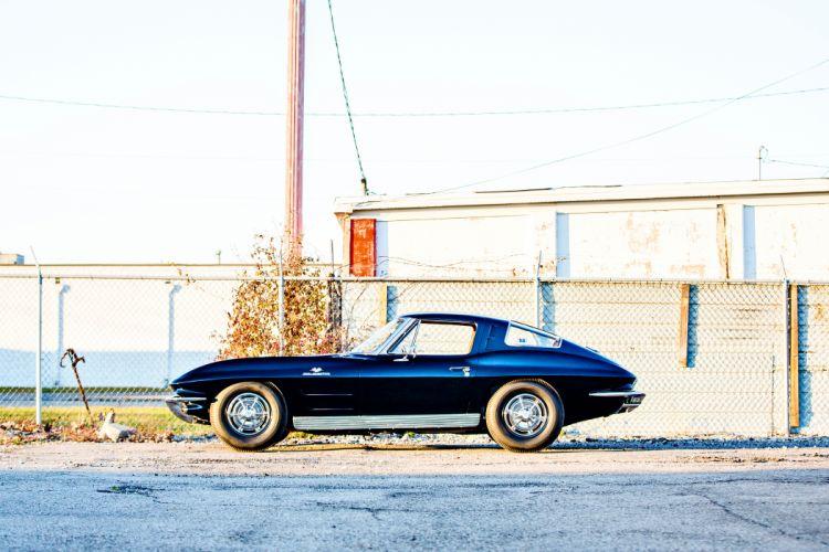 1963 Chevrolet Corvette Stingray Z06 Muscle Old Classic Original USA -02 wallpaper