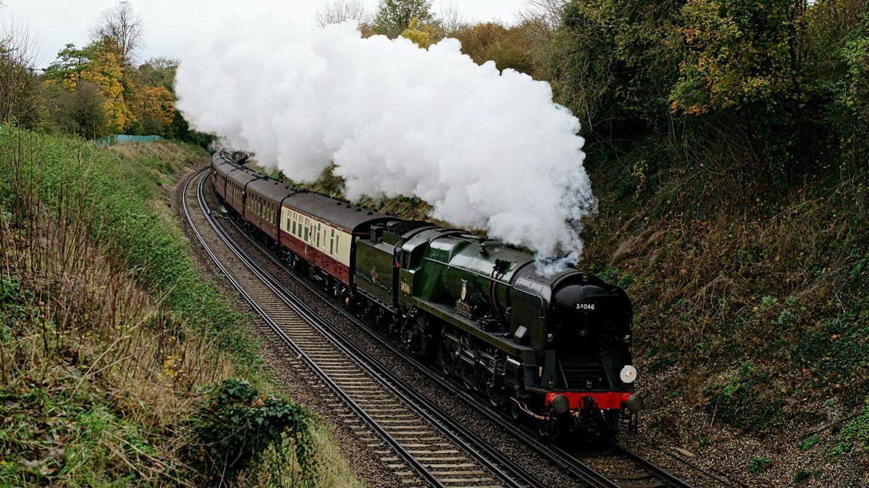 tren vapor humo naturaleza wallpaper